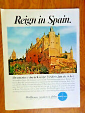 1967 Pan Am Airlines Ad The Alcazar in Segovia Queen Isabella Slept Here