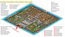 Poster - Forbidden City Map Beijing China (Chinese Ming Dynasty Picture Art)