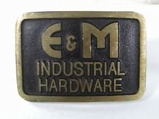 Vintage E & M Indusrial Hardware Belt Buckle By DYNABUCKLE 81016