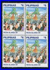 PHILIPPINES 1990 FESTIVAL block of 4 SC#1990A MNH RELIGION, COSTUMES