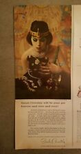 1961 Sarah Coventry pet forever Egyptian woman black cat jewelry ad