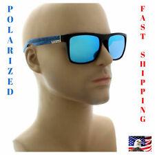 Men Sunglasses Blue Mirror Reflective Lens Polarized Sport Fishing Golf Shades