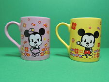 Mickey & Mouse Lot 2 tasse Mug exclusif euro Disneyland park resort Paris Disney