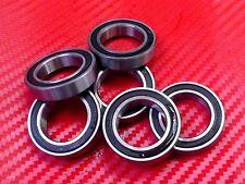 10pcs 6902-2RS (15x28x7 mm) Black Rubber Sealed Ball Bearing Bearings 6902RS