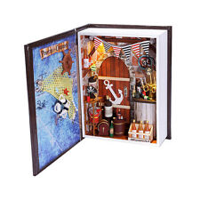 DIY Mini Book Doll House with Furniture, w/ Lights - The Sailor's Dairy (Pirate