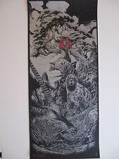 Ken Taylor Red Moon Art Poster Print Vacvvm Mondocon Mondo Signed Halloween
