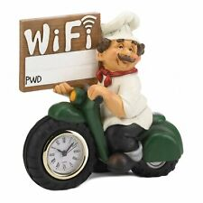 HOME KITCHEN DECOR CHEF MOTORCYCLE CLOCK WITH WIFI SIGN