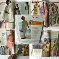 Vtg 1974 SEARS Summer Catalog Bell Bottoms Short Dresses Halter Top Cheryl Tiegs