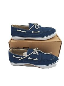 KingSize Men's 12 Wide Width Canvas Boat Shoe Loafers Shoes