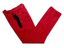 Kiton Jeans: 31/32 Washed red, classic jean style, spring cotton