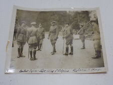 Vintage WWI British Army Press Photo - King of Belgium & General Haig