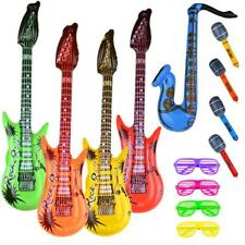 Inflatable Toy Party Favor Set Rock Star Guitar Glasses Kids Halloween NEW