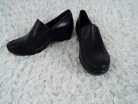 Ariat Black Leather Clog Moccasin Loafer Slip-On Shoes Womens Size 7 B