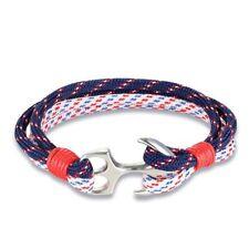 Anchor Bracelet Marine Nautical Men's Jewelry Womens Rope Bracelets Sailor Gift