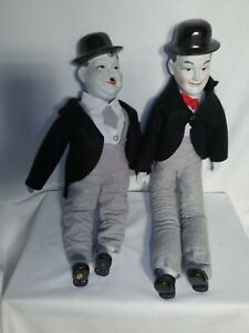 """Vintage Laurel and Hardy Dolls, Porcelain 20""""-22"""" A A IMPORTING."""