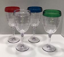 TERVIS WINE GLASS SET OF 4 - 9 OZ. - Red, Blue, Green, Clear