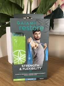 Gaiam Restore Strength & Flexibility Kit Resistance Band X 3 Yoga Pilates