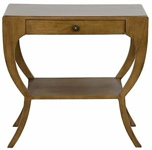 """30"""" Set of Two Side Table Night Stand Solid Mahogany Wood Traditional Wood 4546"""