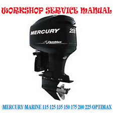 MERCURY 115 125 135 150 175 200 225 OPTIMAX WORKSHOP MANUAL (DIGITAL e-COPY)