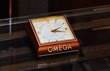 Vintage Omega Exact Time 8 Days Clock Ref. 5008 Gilt Brass