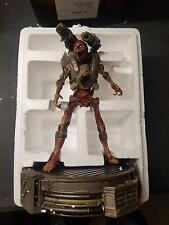 "Doom: Collector's Edition 12"" Statue Revenant on LED Lit Base NO GAME"