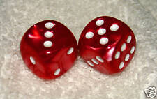 RED MARBLED DICE PAIR