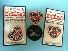 NOS NIP NWP Snomobile Patch Emblems Vintage Rupp Cat Ski-doo Lake Star Lot (gld)