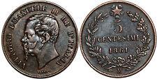 ITALIE 5 CENTESIMI 1861 M  KM#3.2