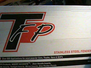 04-07 FORD F-150 STAINLESS STEEL FENDER TRIM SET