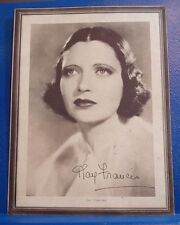 KAY FRANCIS /1934 Actress Studio Portrait/BRITISH AGENT