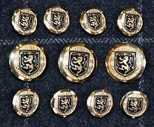 Gold/Silver Metal Buttons Set for Blazer, Sport Coat, or Suit Jacket