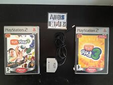Camera silver + 2 jeux EyeToy Eye Toy Play 2 & 3 SONY Playstation PS2 PAL FR