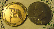 Commerative large/dollar size /heavy medal/Token /First American Flag #275