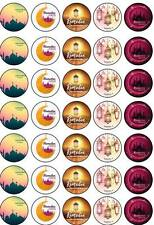 35 Ramadan Mubarak Kareem Eid Fasting Islamic Cup Cake Edible Toppers Decoration