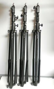 Paul C. Buff LS3900 13ft Air-Cushioned Light Stands Black (Lot of 3)