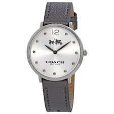 Coach Slim Easton Silver Dial Ladies Leather Watch 14502686