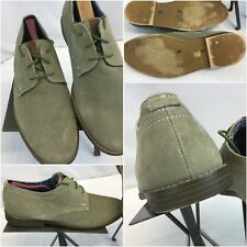 Ben Sherman Buck Shoes Sz 9.5 Men Beige Suede Made In India Worn Once YGI F8