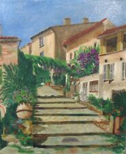 VintageFrench Oil Painting, Bormes-les-Mimosas Provence, French Riviera, Signed