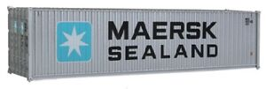 Walthers # 8255 40' Hi Cube Corrugated Side Container  Maersk-Sealand HO MIB