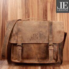LECONI Messenger Bag Aktentasche Damen Herren Leder vintage braun LE3055-vin