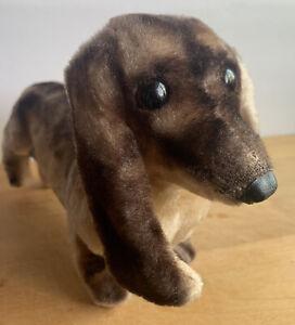 Vintage 1967 KAMAR Mohair/Plush Dachshund Dog Doxie Wiener Stuffed Animal Japan