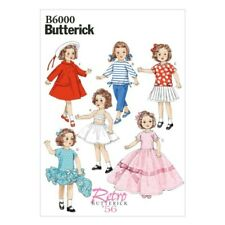 """Butterick Sewing Pattern 6000 18"""" Doll Clothes Dress Top Skirt Trousers"""