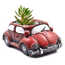 Ascrafter Cement Red Car Succulent Planter Flower Pots Succulent Plants