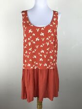 Urban Outfitters Cooperative Mini Dress Flapper Sz M Medium Novelty Bird Orange