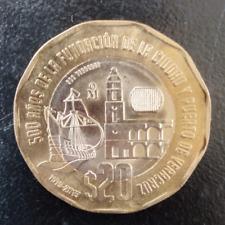 Moneda De $20 Conmemorativa 500 Años Fundación De Veracruz