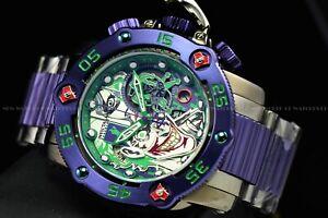 Invicta 53mm Reserve Sea Hunter DC Comics Joker Swiss Titanium Purple LE Watch