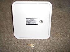 Bargman RV Gas Access Fill Door Hatch w Molded Plastic Original White 60-16-002
