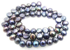 """5-6mm black Freshwater Baroque Pearl Loose Beads 14"""""""
