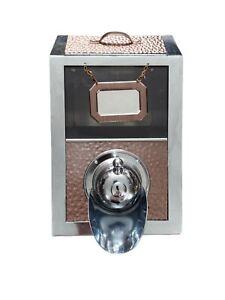 Coffee Bean Dispenser Hammered Copper Espresso