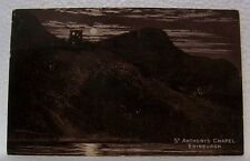 VINTAGE OLD ST ANTHONY'S CHAPEL EDINBURGH UNITED KINDOM BRITISH U.K. POSTCARD